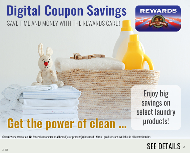 View laundry product digital coupons.