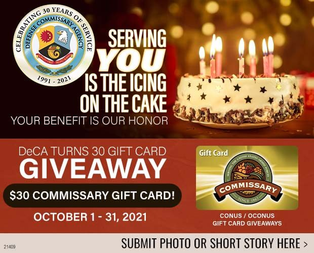 DeCA's 30th Anniversary Gift Card Giveaway!