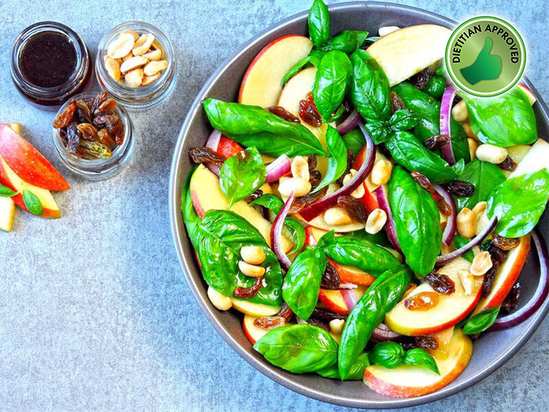 Dietitian Approved Apple and Fresh Basil Salad